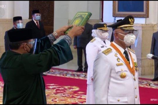Presiden lantik Gubernur-Wakil Gubernur Sumbar, Kepri, dan Bengkulu