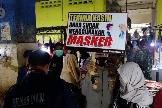 Polda Malut sosialisasi penerapan PPKM berskala mikro di Ternate