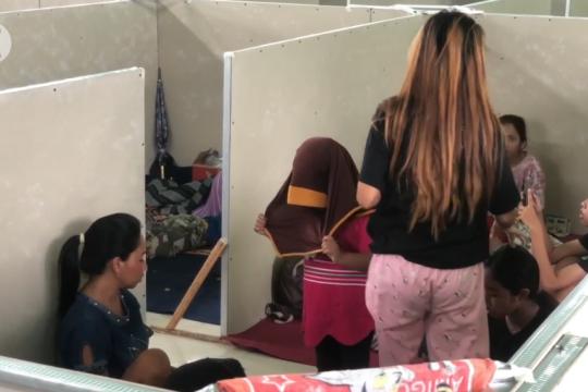 Cegah COVID-19, pengungsian banjir di Pekalongan disekat