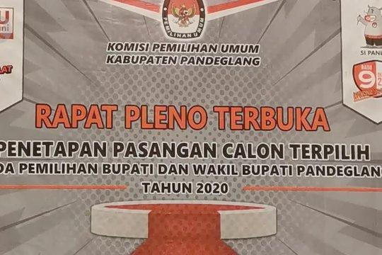 KPU Pandeglang tetapkan Bupati dan Wakil Bupati terpilih