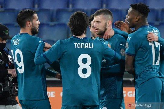 Gol Ante Rebic amankan kemenangan 2-1 AC Milan atas Roma