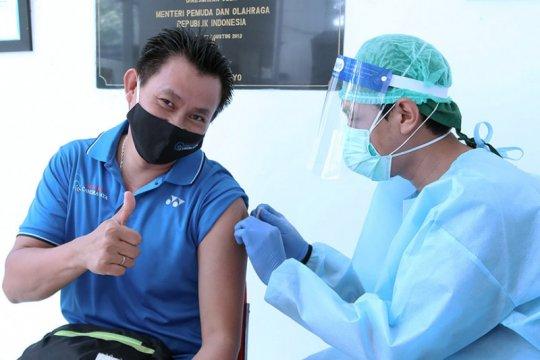 Legenda bulu tangkis terima vaksin COVID-19 di RSON