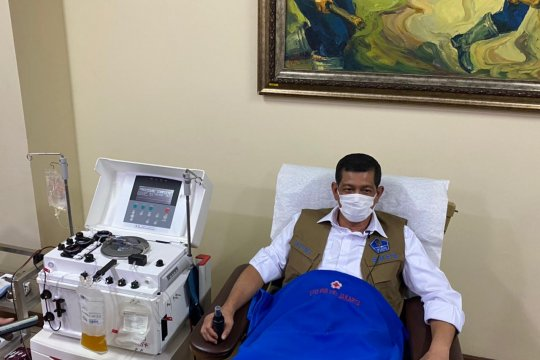 Doni Monardo ambil bagian sebagai pendonor plasma konvalesen