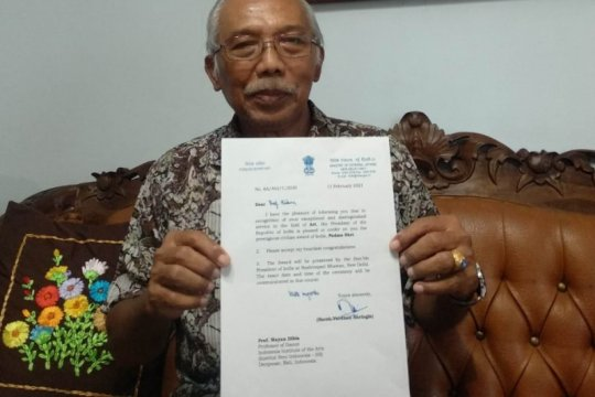"Budayawan Prof Dibia terima penghargaan seni ""Padma Shri"" dari India"