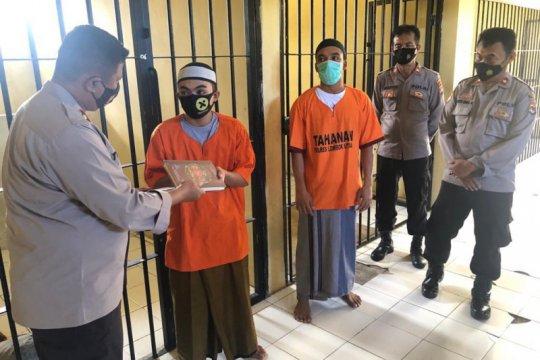 Tahanan di tahanan kepolisian Lombok Utara-NTB diberikan Al-Quran