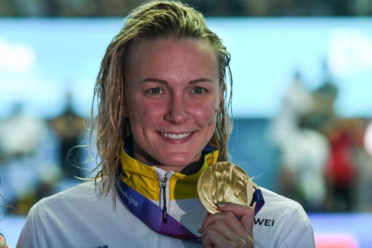 Sarah Sjostrom si ratu gaya kupu-kupu sudah kembali berenang