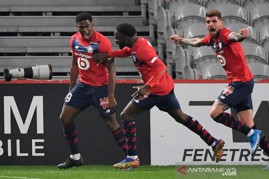 Lille menang dramatis atas Marseille berkat dua gol Jonathan David