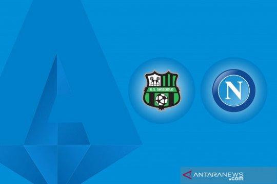 Napoli berbagi poin dengan Sassuolo usai lakoni drama enam gol