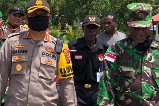 Personel Brimob Merauke diperbantukan perkuat pengamanan di Asmat