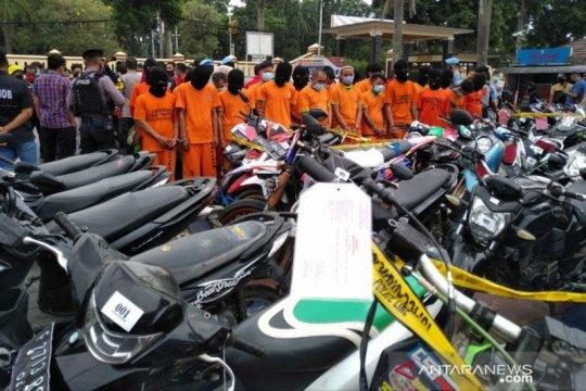 Dalam 10 hari, Polres Bogor amankan 134 kendaraan curian
