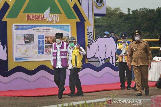 Presiden Joko Widodo resmikan Waduk Sindangheula di Banten