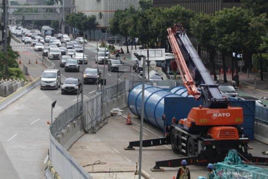 Dishub DKI rekayasa lalin jalan MH Thamrin dampak pekerjaan MRT fase 2