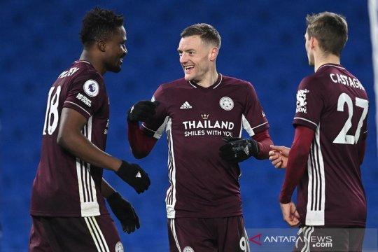 Leicester naik posisi kedua setelah bangkit tundukkan Brighton