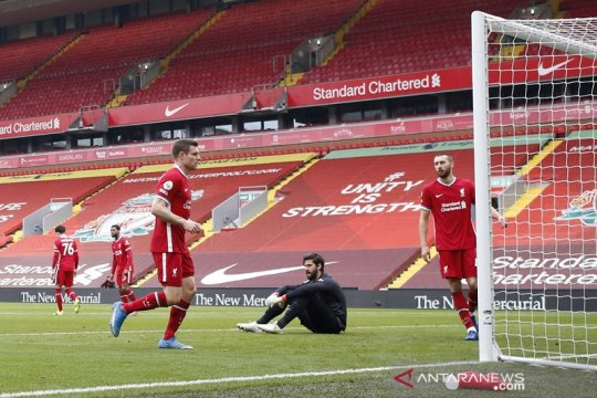 Liverpool dipaksa Fulham telan enam kekalahan beruntun di Anfield