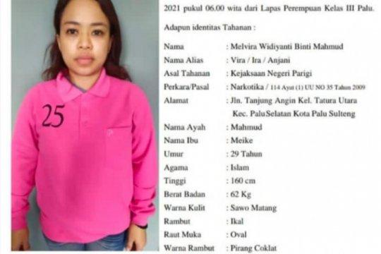 Melvira, tahanan wanita kasus narkoba di Lapas Perempuan Palu kabur