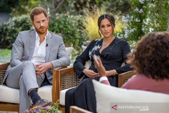 Pangeran Harry dan istrinyaMeghan Markle diwawancarai Oprah Winfrey