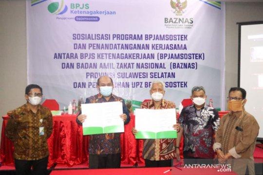 Baznas Sulsel bekali BPJAMSOSTEK bagi relawan dan pekerja rentan