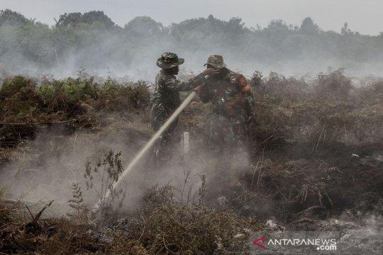 Pemadaman karhutla di Kampar Riau