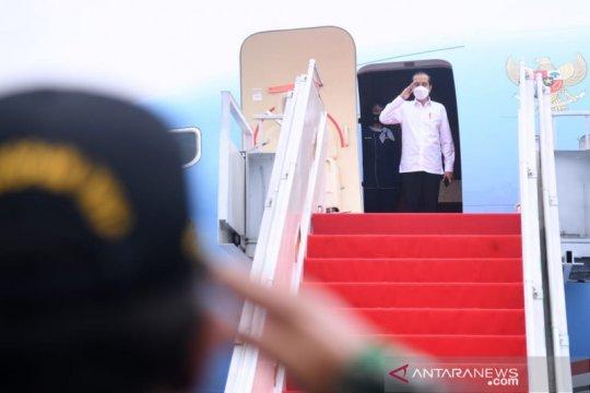 Presiden Jokowi bertolak ke DIY-Jateng tinjau vaksinasi massal