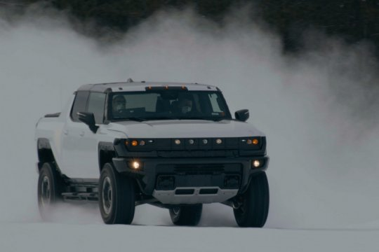SUV listrik Hummer di uji di kawasan nol derajat