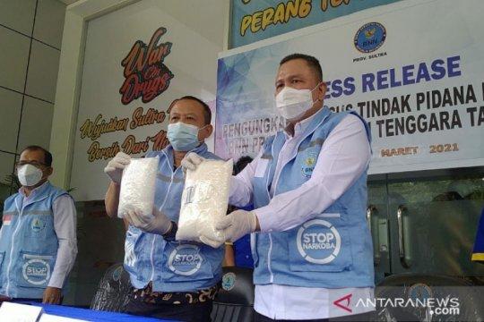 BNN Sultra tangkap pengedar 1,9 kilogram sabu asal Samarinda