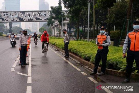 Sudinhub Jaksel tempatkan petugas di jalur sepeda