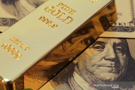 """Greenback"" dan imbal hasil obligasi mundur, emas melonjak 16,6 dolar"