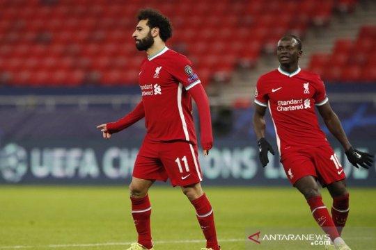 Liverpool melaju berkat Salah dan Mane bobol gawang Leipzig lagi