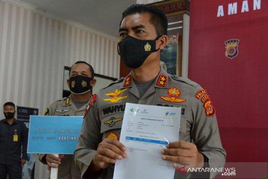 Vaksinasi COVID-19 untuk 14.000 polisi di Aceh bertahap