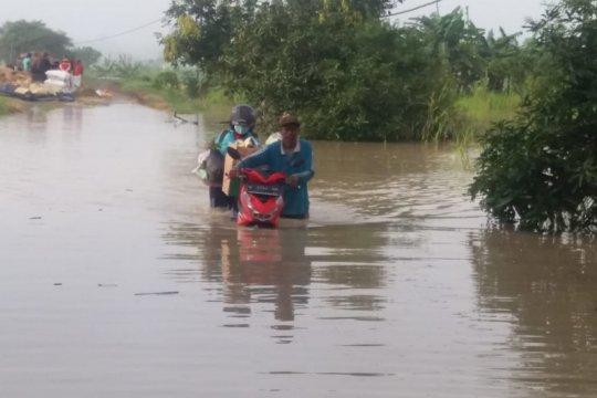 Banjir luapan Kali Lamong di Kabupaten Gresik terjang sejumlah desa