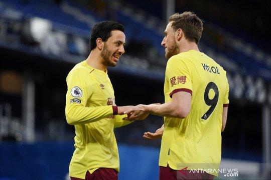 Burnley lengkapi kemenangan ganda Merseyside setelah tundukkan Everton