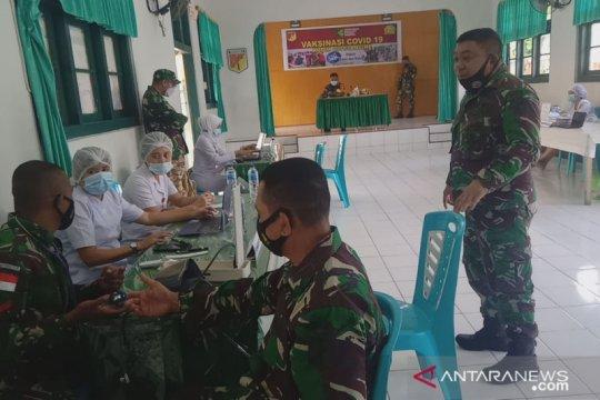 298 personil Kodim 1301/Sangihe sudah divaksin COVID-19 tahap satu