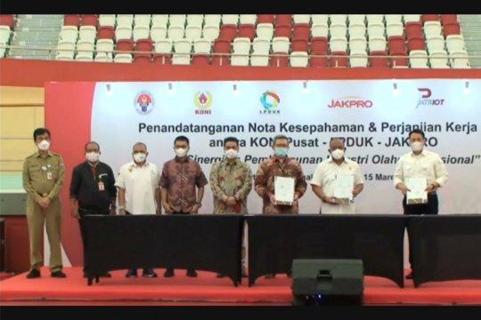 KONI Pusat-LPDUK-Jakpro sepakati kerja sama dukung industri olahraga