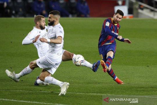 Barcelona gusur Real Madrid dari posisi kedua selepas gasak Huesca