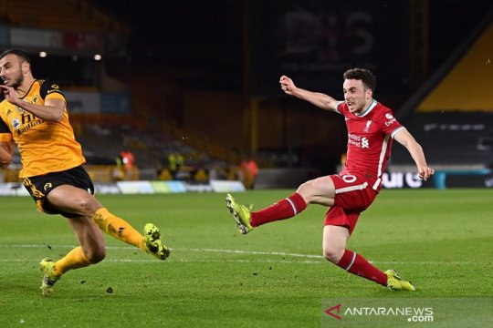 Diogo Jota bawa Liverpool menang di markas Wolverhampton