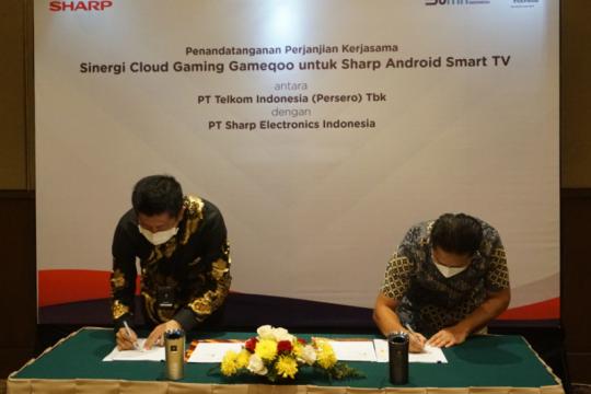 Sharp Indonesia gandeng Telkom perkenalkan TV game streaming pertama