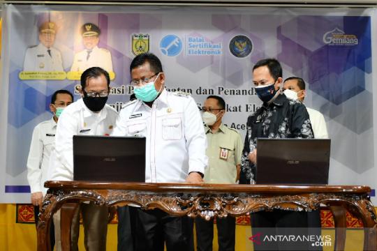 Banda Aceh dan BSSN RI teken MoU terkait tanda tangan elektronik