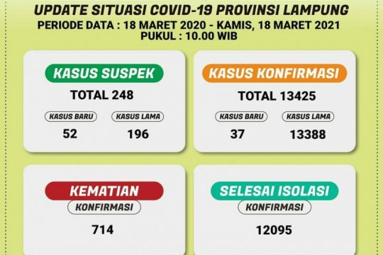 Dinkes catat pasien sembuh dari COVID-19 di Lampung tambah 63