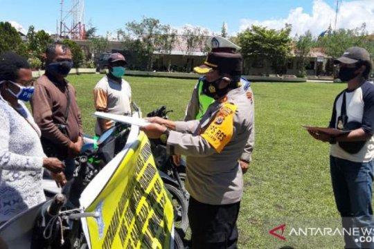 Polisi Jayawijaya kembalikan enam motor curian, total 267 setahun ini