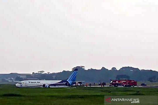 Pesawat Trigana Air tergelincir di Halim