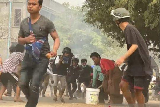 164 orang tewas, junta Myanmar salahkan pengunjuk rasa
