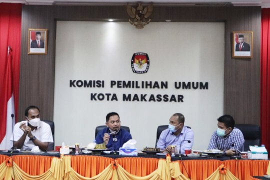 KPU RI monitoring evaluasi e-Coklit pemilu di Makassar