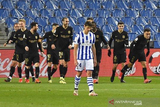 Barcelona pesta gol 6-1 di kandang Real Sociedad