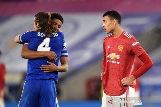 Leicester melangkah ke semifinal Piala FA setelah kalahkan MU 3-1