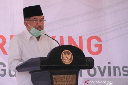 Jusuf Kalla letakan batu pertama pembangunan gudang logistik PMI