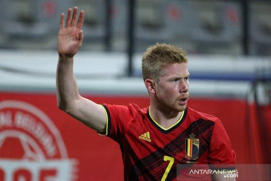 Kevin de Bruyne belum diskusikan menit bermain di timnas Belgia
