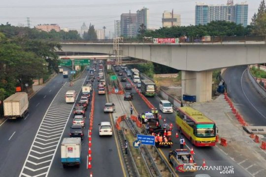26 Maret Jasa Marga uji coba contra flow tol dalam kota, mulai Halim