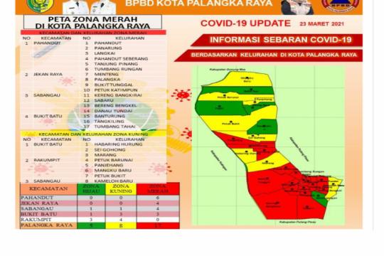 Sebaran zona merah COVID-19 di Palangka Raya meluas
