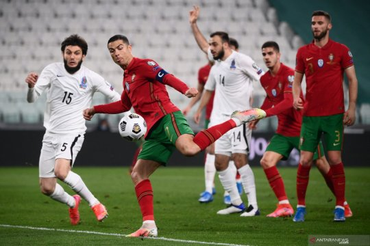 Portugal hanya mampu menang tipis lawan Azerbaijan