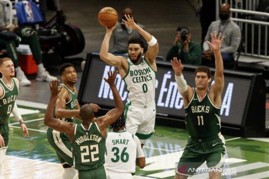 Jayson Tatum pimpin Celtics taklukkan Timberwolves lewat OT